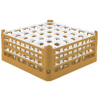 Vollrath 52716 Signature Full-Size Gold 36-Compartment 7 1/8 inch X-Tall Glass Rack