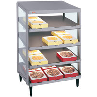 Hatco GRPWS-2418Q Granite Gray Glo-Ray 24 inch Quadruple Shelf Pizza Warmer - 1920W
