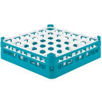 Vollrath 52714 Signature Full-Size Light Blue 36-Compartment 4 5/16 inch Medium Glass Rack