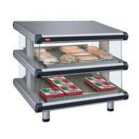 Hatco GR2SDS-60D Gray Granite Glo-Ray Designer 60 inch Slanted Double Shelf Merchandiser