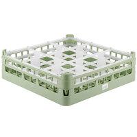 Vollrath 52727 Signature Full-Size Light Green 9-Compartment 4 5/16 inch Medium Glass Rack