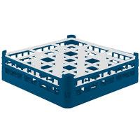 Vollrath 52761 Signature Full-Size Royal Blue 9-Compartment 4 13/16 inch Medium Plus Glass Rack
