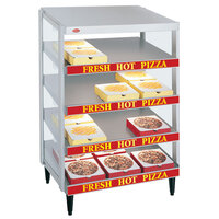 Hatco GRPWS-2424Q Granite White Glo-Ray 24 inch Quadruple Shelf Pizza Warmer - 2400W