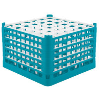 Vollrath 52739 Signature Full-Size Light Blue 36-Compartment 11 3/8 inch XXXX-Tall Glass Rack