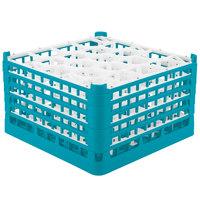 Vollrath 52755 Signature Lemon Drop Full-Size Light Blue 20-Compartment 10 9/16 inch XXX-Tall Plus Glass Rack