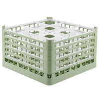 Vollrath 52731 Signature Full-Size Light Green 9-Compartment 9 15/16 inch XXX-Tall Glass Rack