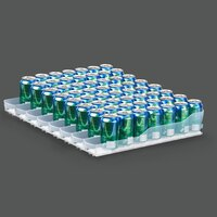 True 929835 Trueflex Bottle Organizer - 3 1/8 inch x 20 3/4 inch - 8 Lanes; for 20 oz. Bottles