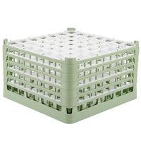 Vollrath 52735 Signature Full-Size Light Green 49-Compartment 9 15/16 inch XXX-Tall Glass Rack