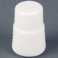 CAC GAD-PS Garden State 2 7/8 inch Bone White Porcelain Pepper Shaker - 48/Case
