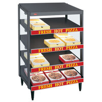 Hatco GRPWS-2424Q Granite Gray Glo-Ray 24 inch Quadruple Shelf Pizza Warmer - 2400W