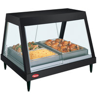 Hatco GRHDH-4P Black Stainless Steel Glo-Ray 59 3/8 inch Full Service Single Shelf Merchandiser with Humidity Chamber