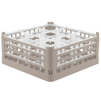 Vollrath 52730 Signature Full-Size Beige 9-Compartment 7 1/8 inch X-Tall Glass Rack