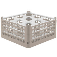 Vollrath 52729 Signature Full-Size Beige 9-Compartment 8 1/2 inch XX-Tall Glass Rack