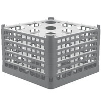Vollrath 52736 Signature Full-Size Gray 9-Compartment 11 3/8 inch XXXX-Tall Glass Rack