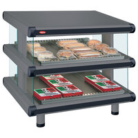 Hatco GR2SDS-42D Gray Granite Glo-Ray Designer 42 inch Slanted Double Shelf Merchandiser