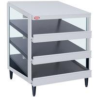 Hatco GRPWS-2424T Granite White Glo-Ray 24 inch Triple Shelf Pizza Warmer - 1800W