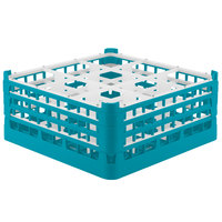 Vollrath 52730 Signature Full-Size Light Blue 9-Compartment 7 1/8 inch X-Tall Glass Rack