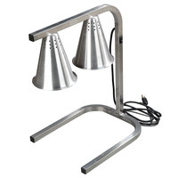 Carlisle HL723700 Two Bulb Freestanding Adjustable Aluminum Heat Lamp - 120V