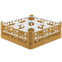 Vollrath 52762 Signature Full-Size Gold 9-Compartment 6 1/4 inch Tall Plus Glass Rack