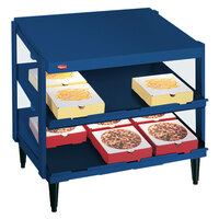 Hatco GRPWS-4818D Navy Blue Glo-Ray 48 inch Double Shelf Pizza Warmer - 1920W