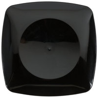 Fineline Renaissance 1506-BK 5 1/2 inch Black Plastic Dessert Plate - 120/Case