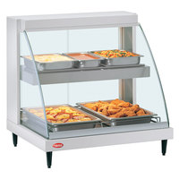 Hatco GRCD-1PD White 20 inch Glo-Ray Full Service Double Shelf Merchandiser - 120V, 860V