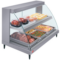 Hatco GRCD-3PD Gray 45 inch Glo-Ray Full Service Double Shelf Merchandiser - 120V, 1710W