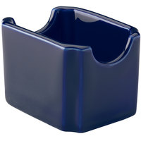 Hall China 30716105 Cobalt Blue Colorations Sugar Packet Holder - 24 / Case