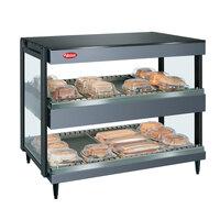 Hatco GRSDH-41D Gray Granite Glo-Ray 41 inch Horizontal Double Shelf Merchandiser