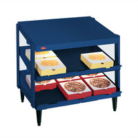 Hatco GRPWS-4824D Navy Blue Glo-Ray 48 inch Double Shelf Pizza Warmer - 2390W