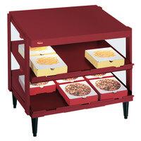 Hatco GRPWS-4818D Wine Red Glo-Ray 48 inch Double Shelf Pizza Warmer - 1920W