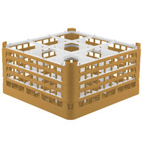 Vollrath 52764 Signature Full-Size Gold 9-Compartment 9 1/16 inch XX-Tall Plus Glass Rack