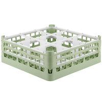 Vollrath 52762 Signature Full-Size Light Green 9-Compartment 6 1/4 inch Tall Plus Glass Rack