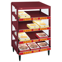 Hatco GRPWS-4818Q Wine Red Glo-Ray 48 inch Quadruple Shelf Pizza Warmer - 3840W