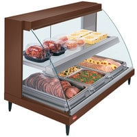 Hatco GRCD-3PD Copper 45 inch Glo-Ray Full Service Double Shelf Merchandiser - 120V, 1710W