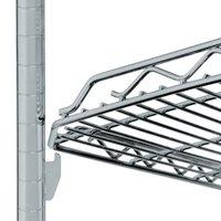 Metro HDM2448Q-DSH qwikSLOT Drop Mat Silver Hammertone Wire Shelf - 24 inch x 48 inch