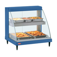 Hatco GRCD-2PD Navy 32 inch Glo-Ray Full Service Double Shelf Merchandiser - 120V, 1210W