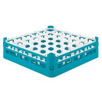 Vollrath 52779 Signature Full-Size Light Blue 36-Compartment 4 13/16 inch Medium Plus Glass Rack
