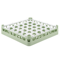 Vollrath 52778 Signature Full-Size Light Green 36-Compartment 3 1/4 inch Short Plus Glass Rack