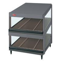 Hatco GRSDS-41D Gray Granite Glo-Ray 41 inch Slanted Double Shelf Merchandiser