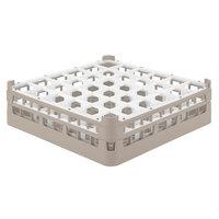 Vollrath 52779 Signature Full-Size Beige 36-Compartment 4 13/16 inch Medium Plus Glass Rack