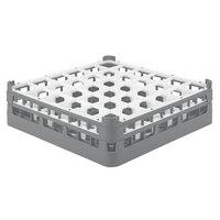 Vollrath 52779 Signature Full-Size Gray 36-Compartment 4 13/16 inch Medium Plus Glass Rack
