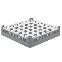 Vollrath 52778 Signature Full-Size Gray 36-Compartment 3 1/4 inch Short Plus Glass Rack