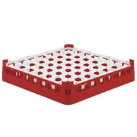 Vollrath 52784 Signature Full-Size Red 49-Compartment 3 1/4 inch Short Plus Glass Rack
