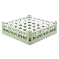 Vollrath 52779 Signature Full-Size Light Green 36-Compartment 4 13/16 inch Medium Plus Glass Rack