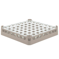 Vollrath 52784 Signature Full-Size Beige 49-Compartment 3 1/4 inch Short Plus Glass Rack