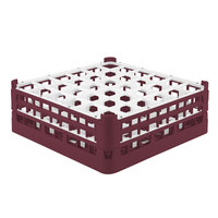 Vollrath 52780 Signature Full-Size Burgundy 36-Compartment 6 1/4 inch Tall Plus Glass Rack