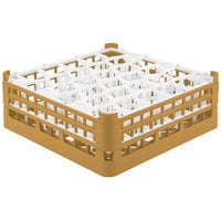 Vollrath 52816 Signature Lemon Drop Full-Size Gold 30-Compartment 5 11/16 inch Tall Glass Rack