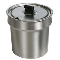 Star SSB-4 4 Qt. Stainless Steel Inset with Notched Cover