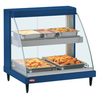 Hatco GRCDH-1PD Navy 20 inch Glo-Ray Full Service Double Shelf Merchandiser with Humidity Controls - 1110W